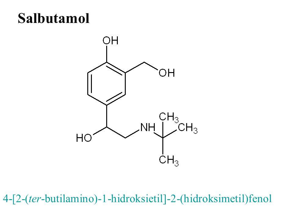 Salbutamol 4-[2-(ter-butilamino)-1-hidroksietil]-2-(hidroksimetil)fenol 16